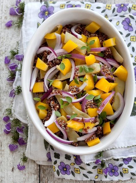 Beautiful Red Quinoa Salad