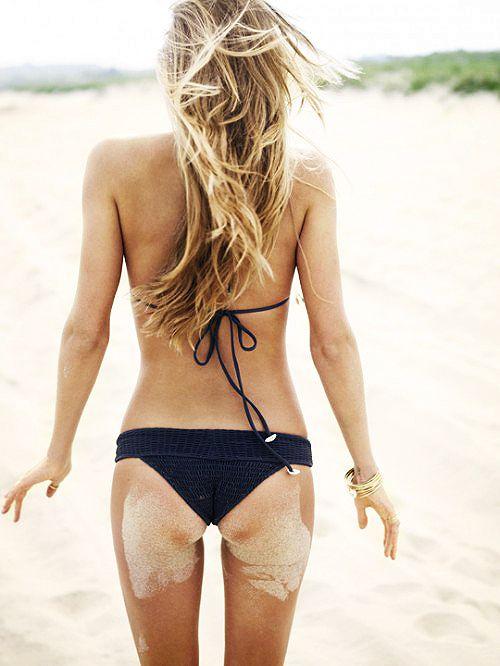 black bikini.