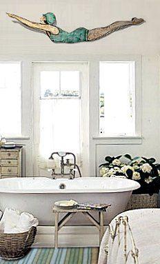love this vintage style bathroom