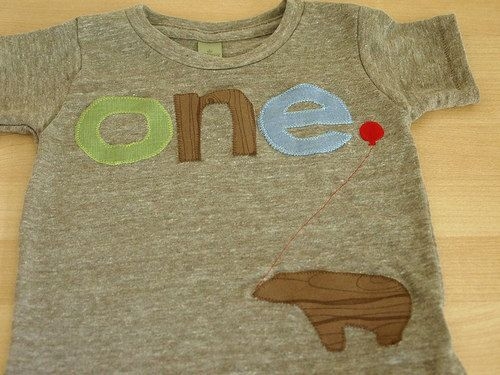 green brown and light blue Tshirt Bear by lilthreadzclothing, $32.00