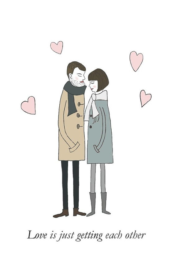 LOVE Print Valentine's Day Couples in Love by MyDifferentStrokes, $26.00