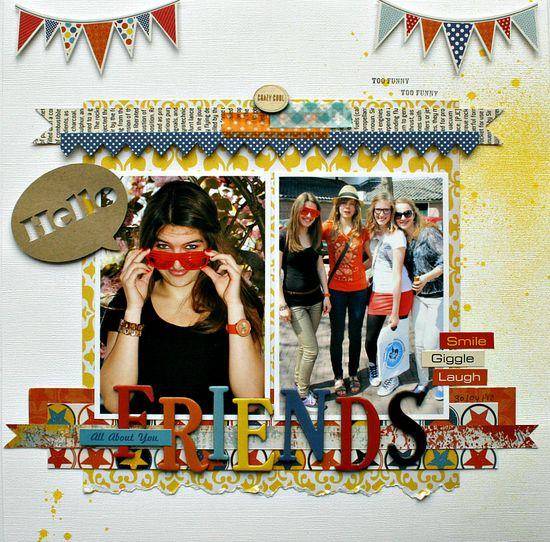 Friends - Ruby Rock-it - Scrapbook.com
