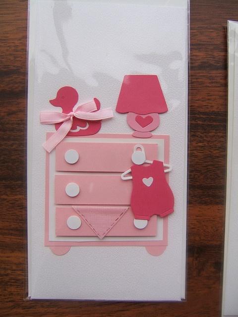 handmade card - baby girl