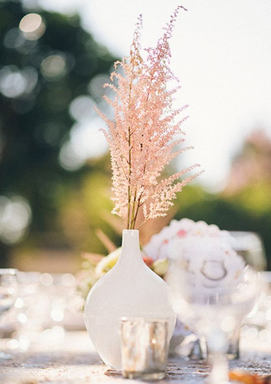 Sparkly pink modern wedding