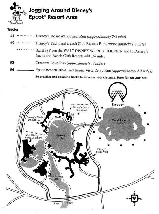 Running / jogging paths at Walt Disney World - MouseTalesTravel.com