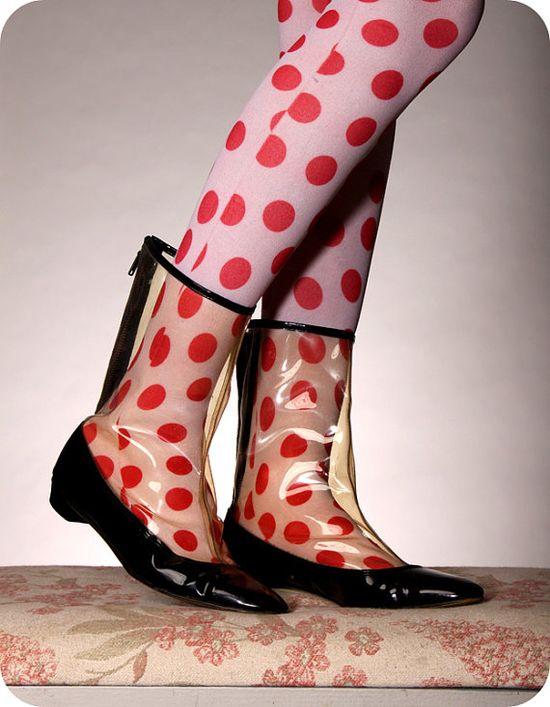 vintage 1960's rain boots