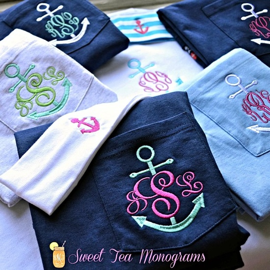 You can never have too many anchor monograms!