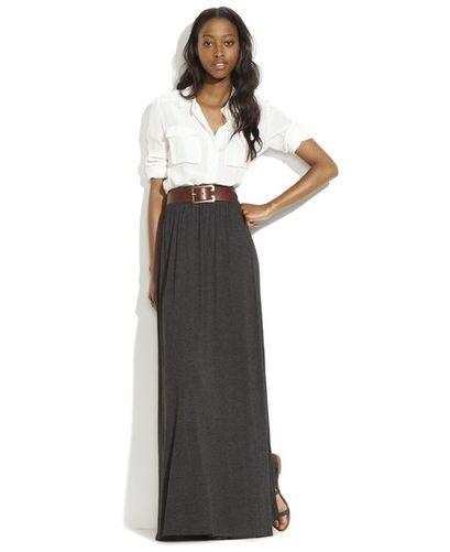 Love the long skirt.