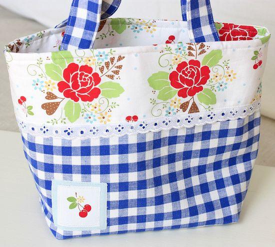sew cherry bag