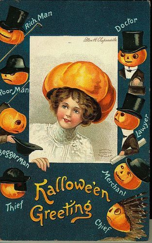 What kind of future husband does this Halloween hold in store for you? #vintage #Halloween #card