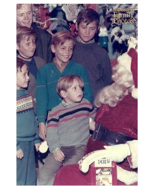 Funny Photos With Santa: Sitting on Santa's lap
