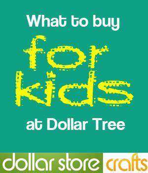 Cute craft ideas for kids with items from dollar stores