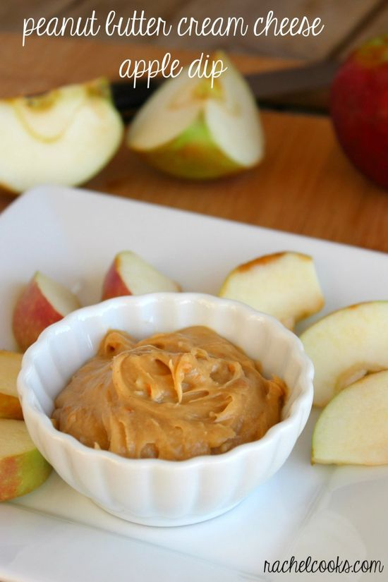 Peanut Butter Cream Cheese Apple Dip