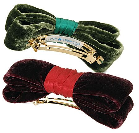 L. Erickson USA Nobility Bow Volume Barrette - Silk Velvet/Silk Charmeuse - Barrettes - L. Erickson USA Accessories