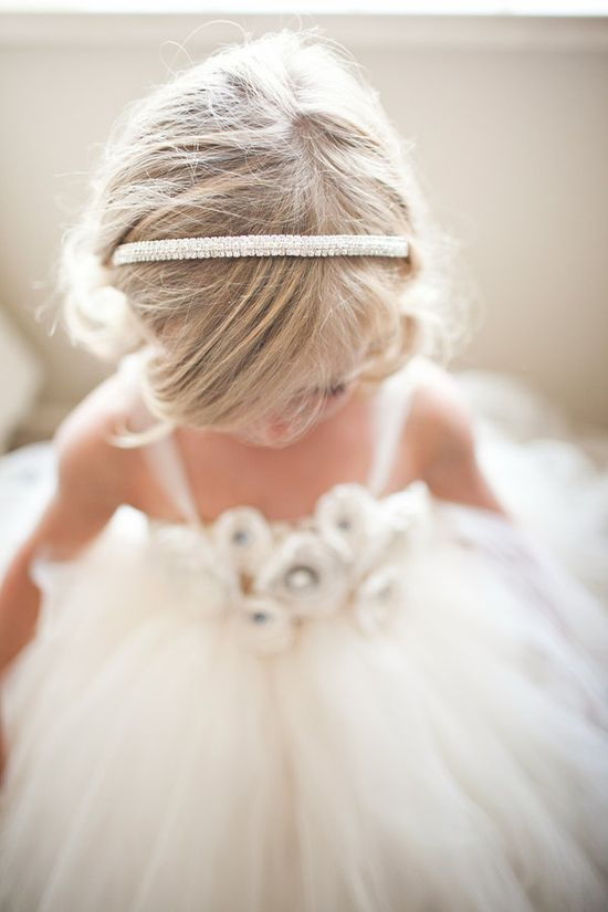 flower girl poofy dress