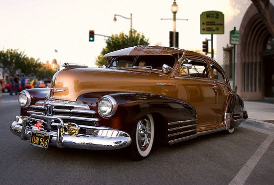 This beautiful Chevy Fleetline is much sought after in the car collector world.