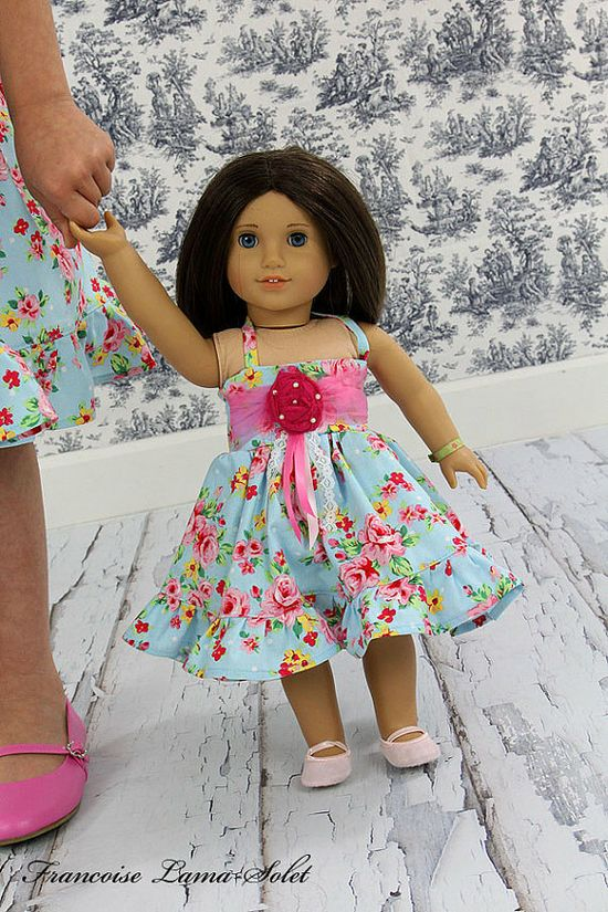 Rosabella 18 doll dress American Girl doll by francoiselamasolet,