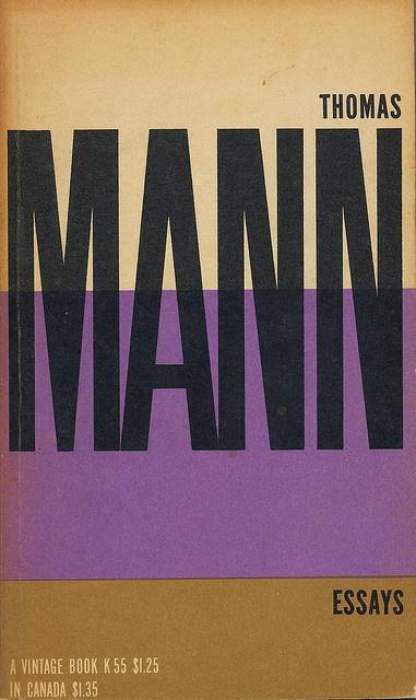 Thomas Mann Essays cover by Paul Rand