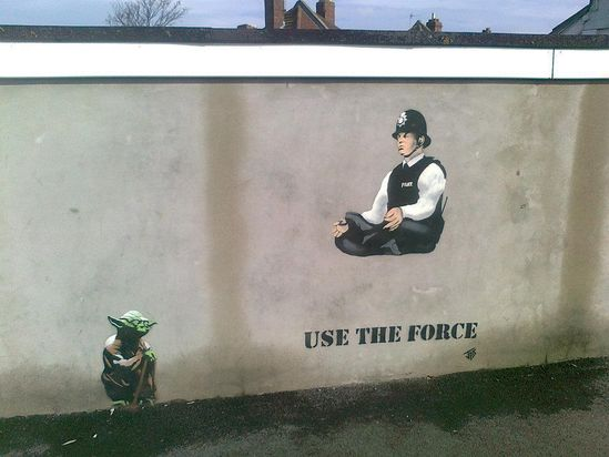 #streetart  use the force