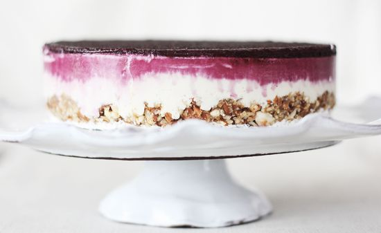 Raw cashew and blueberry cheesecake. Just beautiful.