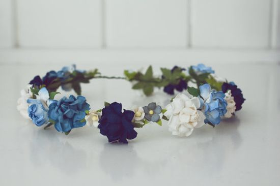 Handmade Paper Flower Crown - Winter Colours!