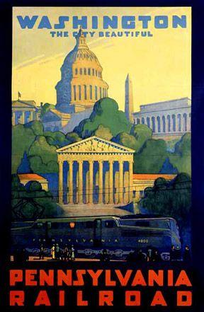 Vintage Travel Poster - Washington D.C.