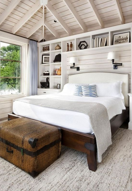 Luxury house Design 2014 - Love the shelves around the bed.