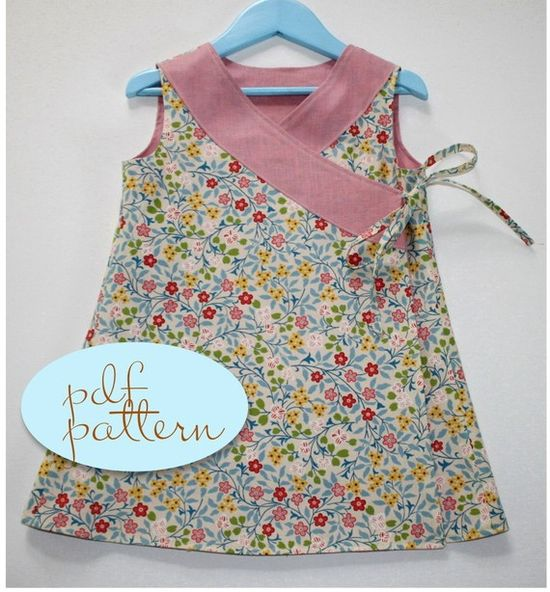 Buy? CRISS CROSS Reversible Dress PDF Pattern for Girls in Sizes 1-6 ..... I just used this pattern to make a dress for my daughter.... it is great.