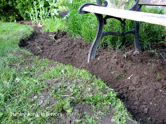 How to create professional edges for your  flowerbeds
