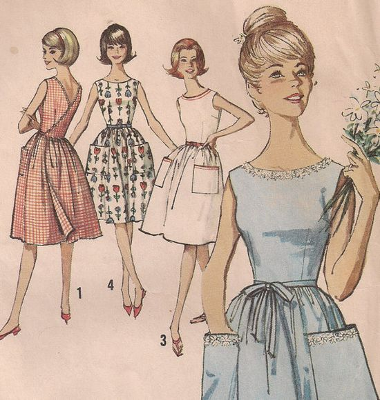 Vintage Wrap around Apron Dress Pattern