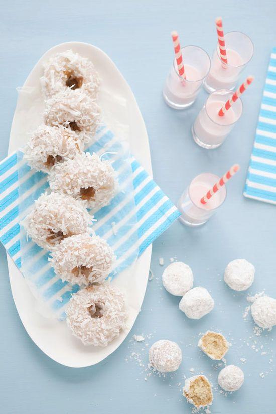 Coconut doughnuts.