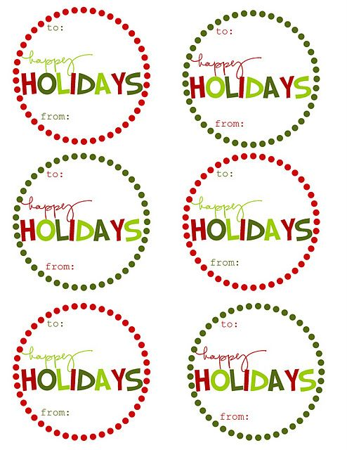 Lots of printable Christmas gift tags