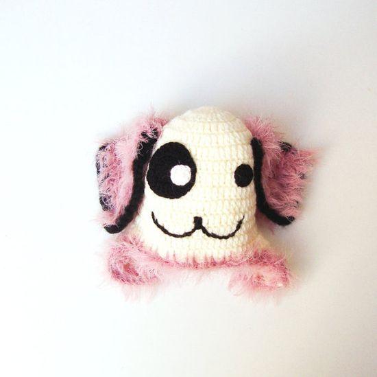 Crochet Baby Animal Dog HatPink Baby Dog Hat Crochet by PeppyBaby, $28.00