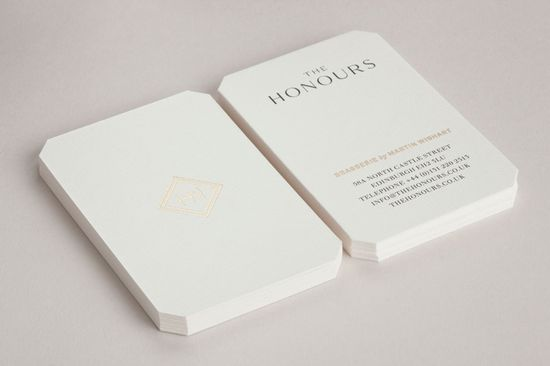 The Honours Business Cards, by Touch