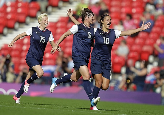 The #US soccer ladies celebrating their win over France!
