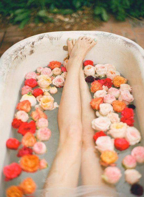 rose bath :)