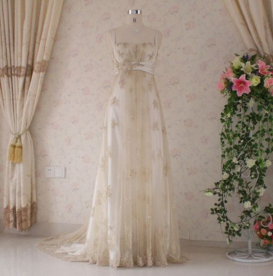 Wedding Dress with Vintage Inspired Lace by WeddingDressFantasy, $699.00