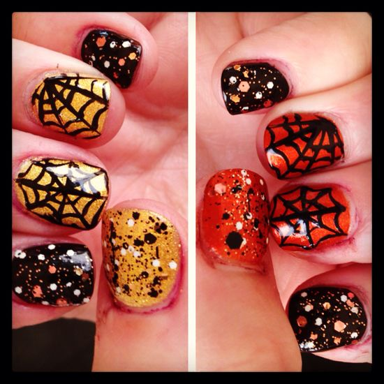 Nail art for Halloween! I love having creative nail art!