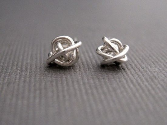 Tiny Teeny Tornado Posts sterling silver wire stud by muyinmolly, $26.00