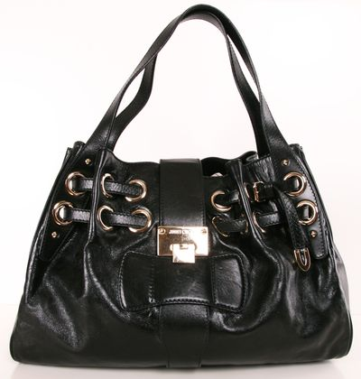 Jimmy Choo black shoulder bag