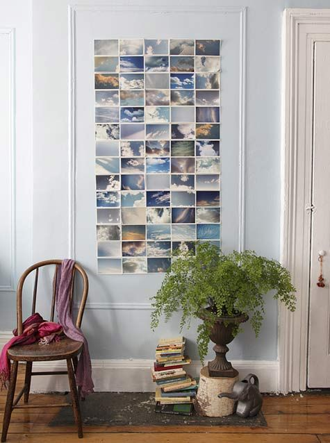 I always think about this. so doing it with polaroids on my wall. love this idea to pieces!