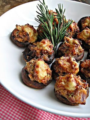 Italian Sausage and Asiago Cheese Stuffed Mushrooms - Recipes, Dinner Ideas, Healthy Recipes & Food Guide