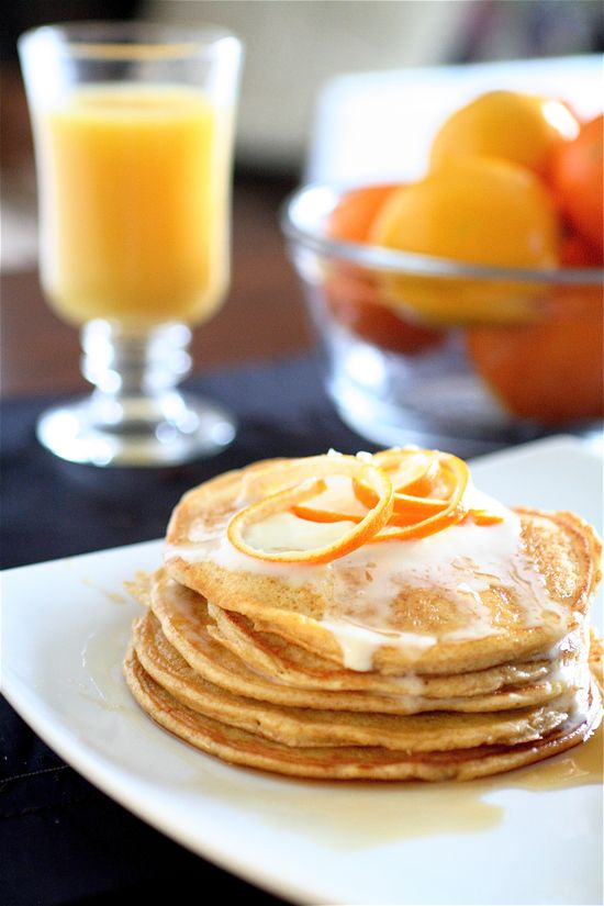 Healthy Orange Cloud Pancakes-no flour or added sugar