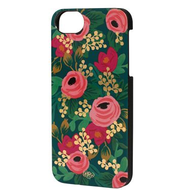 Roses, green and gold iPhone case