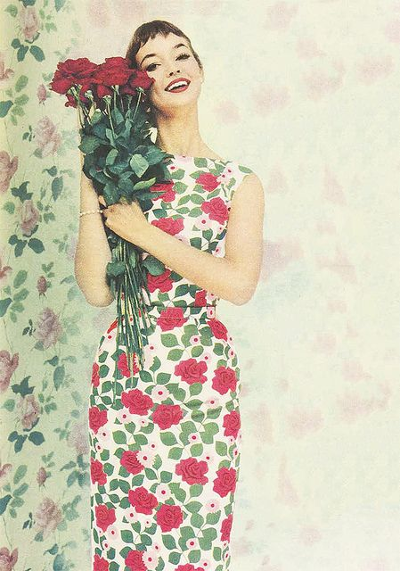 Spring in Bloom. #1950s #vintage #dresses #floral #fashion