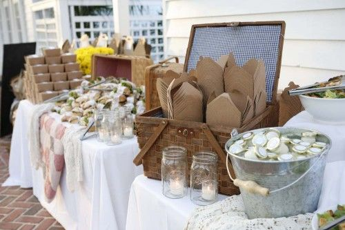 Romantic Picnic Wedding Reception