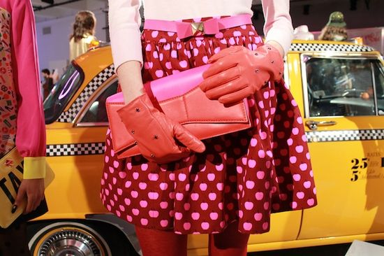 pink polka dots at kate spade {fall 2013}