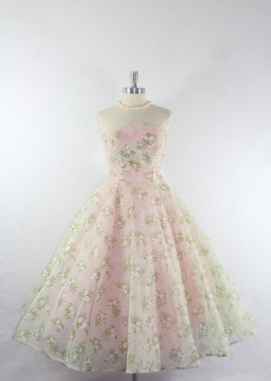 1950s Party Prom Dress  Vintage