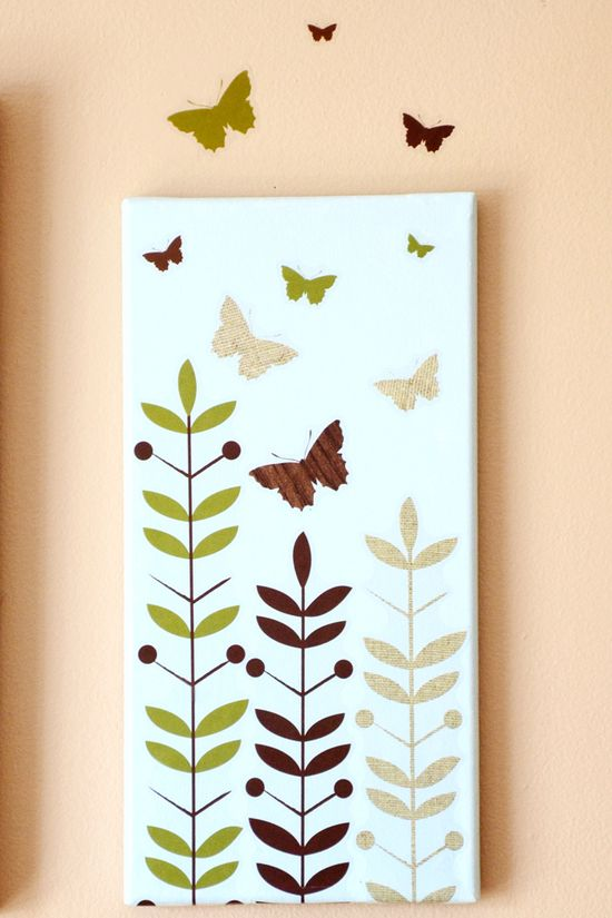 Wall Art Using Wall Decals... you can create art that literally goes off the canvas!