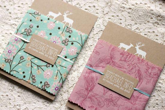 Woodland Wedding Invitations by Rachel Ward via Oh So Beautiful Paper (7)